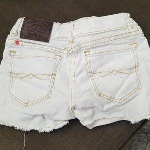 Lucky Brand girls jean shorts, white